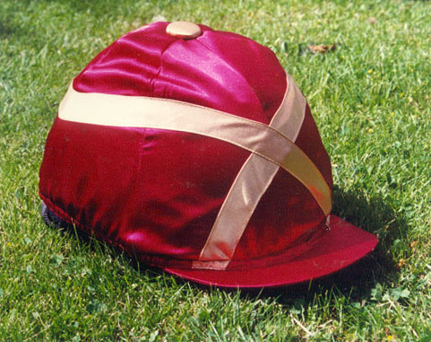 Burgundy/Gold- Satin Hard Hat Cover